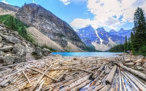 Alberta, Canada, lake, Mountains, landscape
