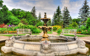 Assiniboine Park, Fountain, English Garden