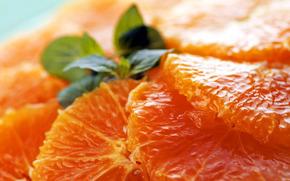 мякоть, апельсин, еда