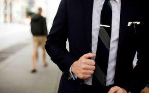uomo, tuta, stile, azienda, legare