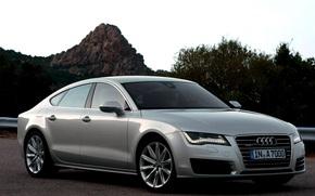 Audi A7, Ауди, дорога, горы