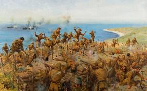 The Battle for Sari Bair, August 1915, battle, battle, soldiers