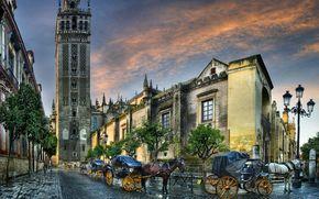 Собор и Хиральда в Севилье, Catedral de Sevilla con la Giralda, Андалусия, Испания