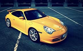 Porsche, giallo, classy