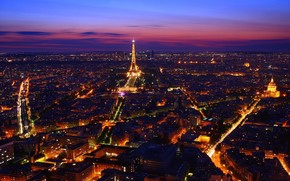 Paris, France, night, lights