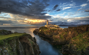 Irland, County Donegal, Meer, Rocks, Leuchtturm