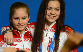 Julia Lipnitskaya, Adelina Sotnikova, Athleten, Schlittschuhläufer, Eiskunstlauf, Olympiasieger, Sochi 2014, Sotschi Olympische Winterspiele 2014, XXII Olympischen Winterspiele, Sochi 2014, Russland