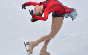 Julia Lipnitskaya, Yulia Lipnitskaya, figure skating, skater, Sochi 2014, sochi 2014 olympic winter games, XXII Olympic Winter Games, sochi 2014, Russia, Russia, ice, gracefulness
