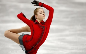 Julia Lipnitskaya, Yulia Lipnitskaya, figure skating, skater, Sochi 2014, sochi 2014 olympic winter games, XXII Olympic Winter Games, sochi 2014, Russia, Russia, ice, view, gracefulness, Champion, leg