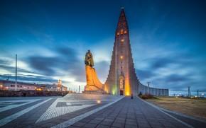 Hallgrimskirkja Chiesa, Reykjavik, islanda, Hallgrimskyrkja, Reykjavik, Islanda