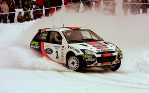 WRC 2001, Swedish Rally, Ford Focus WRT, Carlos Sainz