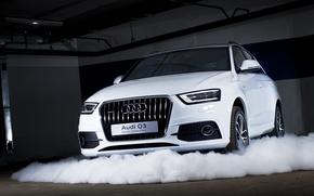 Audi, Q3, Ауди, белая, классная, Сочи