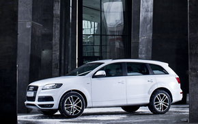 Audi, Q7, Ауди, белая, классная