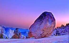 オルムステッドポイント, ヨセミテ国立公園, 日没, 風景
