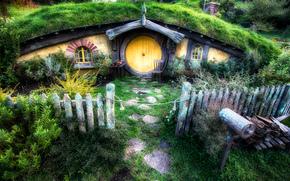 Хоббит Дом, из  Властелина Колец, пейзаж