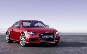 audi, TT, Audi, rouge, nouveau