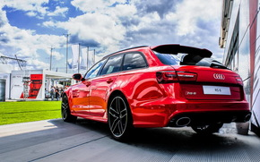 audi, RS6, Audi, red, the fastest and best