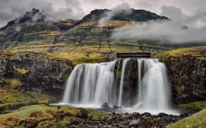 マウンテンKirkjufell, アイスランド, 滝