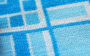 Ткань, хлопок, голубой, белый, текстиль
