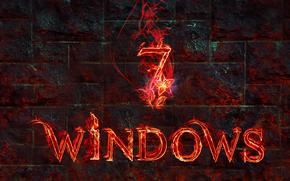 windows 7, 3d, papel pintado