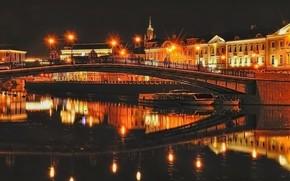 Bolotnaya堤, 莫斯科, 夜