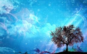 树, 3D, 艺术