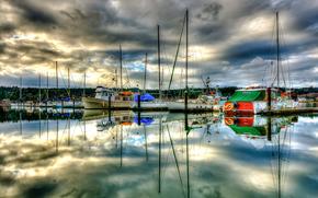 Hafen von Marina Poulsbo, Washington, Schiff, Segelboote, Yacht