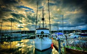 Porto di Marina Poulsbo, Washington, Imbarcazione, barche a vela, Yacht