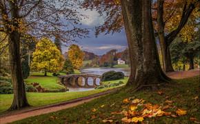 Stourhead Garden, Wiltshire, inghilterra, Wiltshire, Inghilterra, lago, ponte