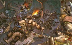 Tavern, Fighting, Food, Vikings