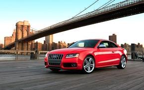 Audi, S5, Ауди, красная