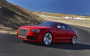 audi, RS5, Audi, rouge