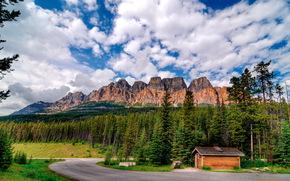 Замковая гора, провинция Альберта, Канада
