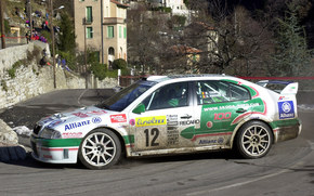 WRC, rally monte-carlo, 2001, Skoda