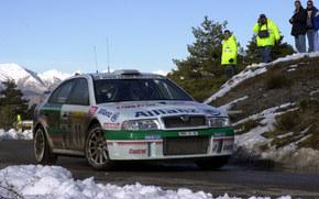 WRC, rally monte-carlo, 2001, Skoda Octavia