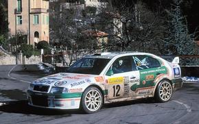 2001, WRC, rally monte-carlo, Skoda Octavia