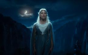 Нежданное путешествие, cascate, Галадриель, notte, Elf, Хоббит, Ривенделл, mese