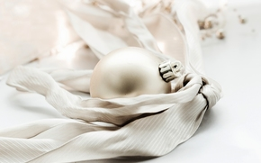 Новый Год, игрушка, золотой, Рождество, шар, праздники, Новый год, елочная, шарик, лента