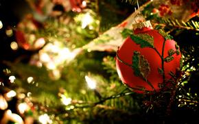 palla, chiaro, ramo, vacanze, rosso, palla, Giocattoli, Natale, Natale, modello, Natale, abete, Capodanno, Capodanno, ghirlanda