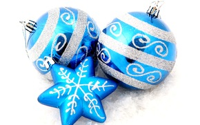 звёздочка, snowflake, Christmas decorations, Balloons, New Year