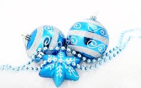 Christmas decorations, chaplet, Balloons, звёздочка, New Year, snowflake