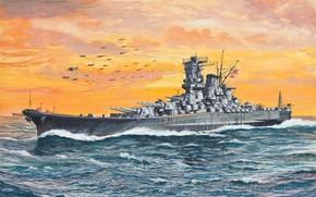 линейный, японского, corazzata, spedire, флота, Ямато, императорского, флот