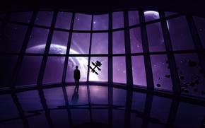 spedire, uomo, pietre, stazione, Asteroids, Stella, Planet, метеориты, spazio