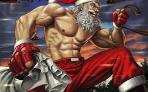雪, 新年, 圣诞老人, 运动, приколы, 圣诞老人