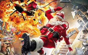 esplosione, Capodanno, situazione, Capodanno, Santa, slitta