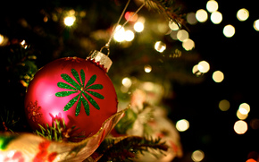 red, pattern, fir-tree, New Year, holidays, Toys, New Year, ball, ball, Christmas, Christmas