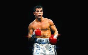 拳击手, 黑色背景, Артуро Гатти, 拳击