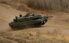 战斗, 道路, 坦克