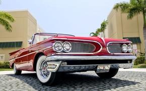 cabriolet, Catalina, Pontiac, rosso, Altre marche, macchina