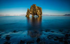 roccia, Islanda, Хвитцеркур, rinoceronte, базальтовая